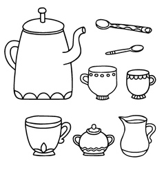 tea time supplies vector image