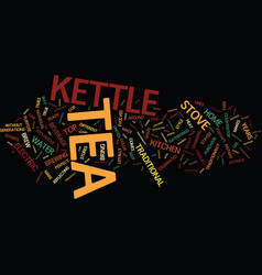 the power of the tea kettle text background word vector image vector image