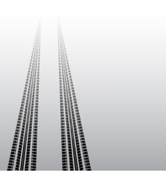 Tire tracks silhouette gradient vector