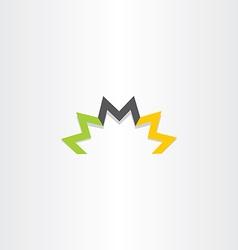 triple letter m logo symbol element vector image