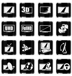 TV features and specifications vector image