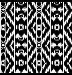 Ethnic striped black and white seamless pattern vector