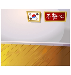 Korean home interior vector
