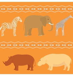 Seamless african pattern vector image