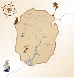 Antique treasure map vector