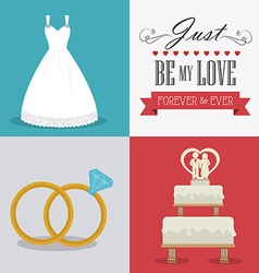 Wedding card design vector