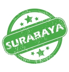 Surabaya green stamp vector
