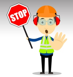Safety worker vector