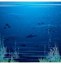 Beautiful underwater landscape art vector