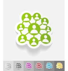 Realistic design element social network vector