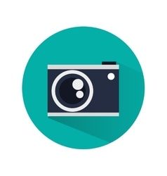 Camera over circle design vector