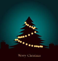 Christmas tree with lighting decoration vector