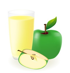 Green apple juice vector