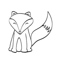 fox cartoon icon cute animal design vector image