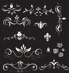 A set of vintage design elements - vector