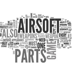 Airsoft parts a need for every airsoft enthusiast vector