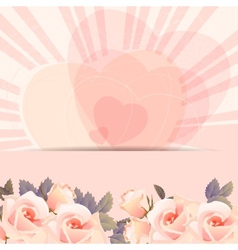 Background frame with bunch of roses vector image vector image