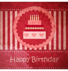 Birthday card with copy space vector image vector image