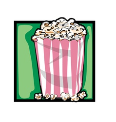 classic popcorn vector image vector image