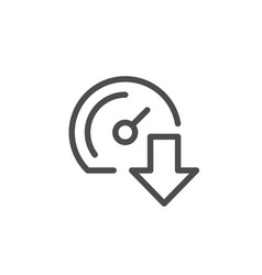 download speed line icon vector image vector image