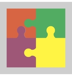 Four colorful puzzle vector image vector image