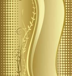 Gold floral background vector