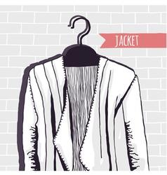 jacket brick wall vector image vector image