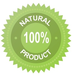 label - 100 natural product vector image