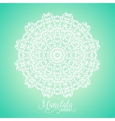 madala round ornament vector image vector image