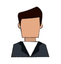 Man avatar doodle vector