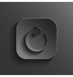 Media player icon - black app button vector image vector image