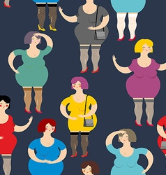 Night Prostitute seamless pattern Many women are vector image vector image