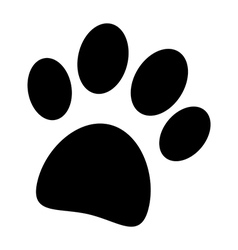 Paw icon vector image vector image