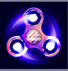 realistic fidget spinner stress relieving toy vector image