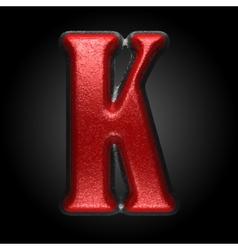 Red plastic figure k vector