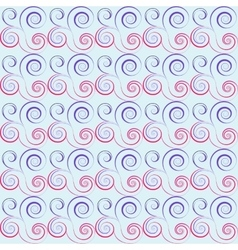 Seamless floral spiral pattern Swirl twirl lines vector image