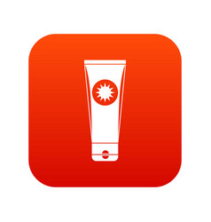 Sunscreen icon digital red vector