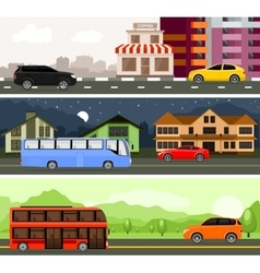 Transport for city and travel vector image