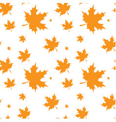 Yellow maple leaf autumn seamless pattern vector