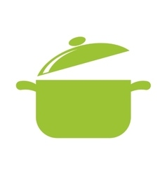 Leaf pot healthy food icon graphic vector