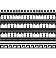 fantasy colosseum stencil vector image