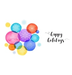 Christmas backgound watercolor vibrant colors vector