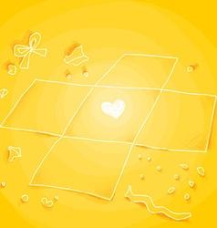 Yellow unwrapped giftbox vector