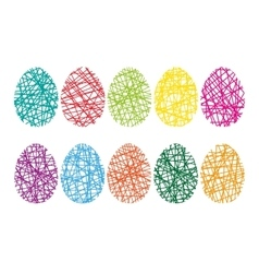 Happy easter background with eggs vector