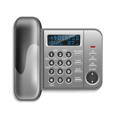 Wall-mounted wireless telephone vector