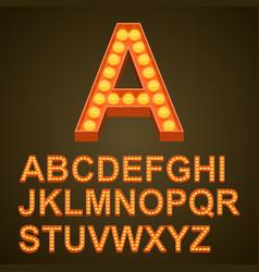 font bulbs art sign abc vector image