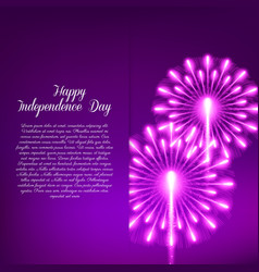 Fourth of july independence day greeting card vector