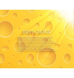 Cheese background eps10 vector