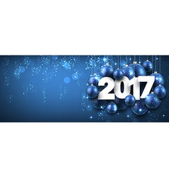 2017 new year blue banner vector