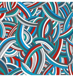 Colorful striped doodle background vector
